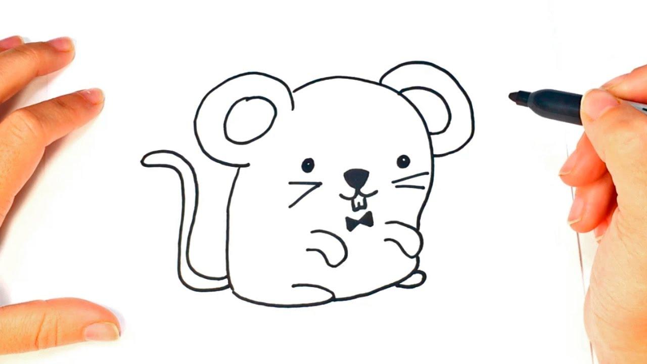 C mo dibujar un rat n kawaii paso a paso dibujo f cil de for Dormitorio para dibujar facil