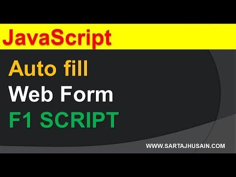 Auto Fill Web Form Using Javascript. In Hindi