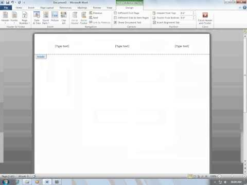 Formatting a Word Document for a Research Paper in APA Style Part 1: Margins, Spacing, and Headers