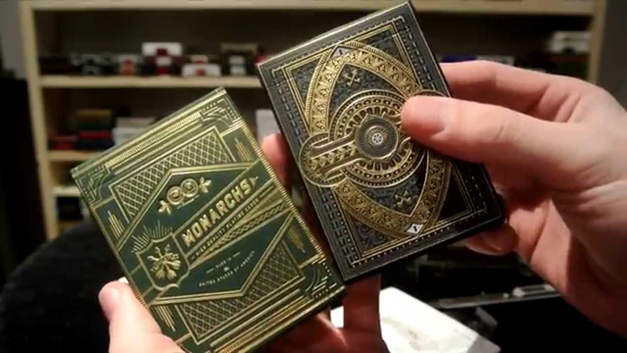Monarch Playing Cards (Green)