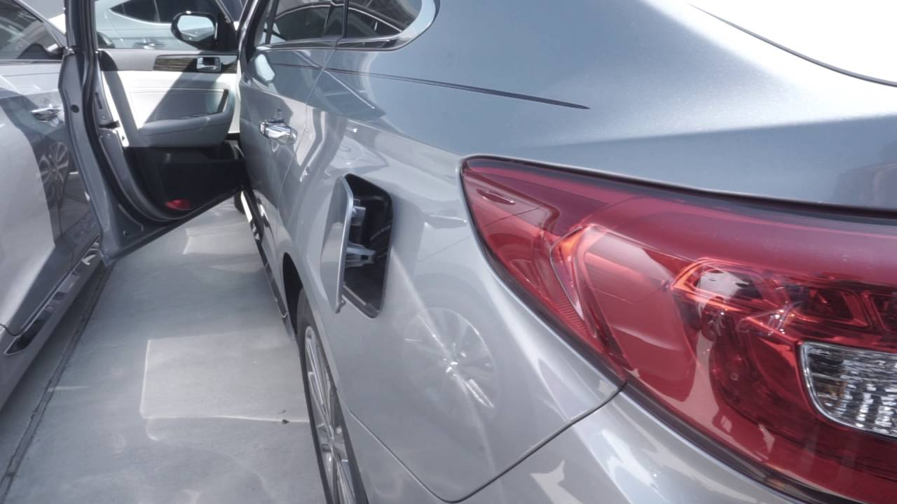 Locating the gas tank door release on a 2016 hyundai sonata