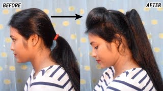New High Ponytail With Broad Puff
