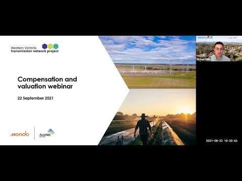 WVTNP webinar - Compensation and valuation 22 September 2021