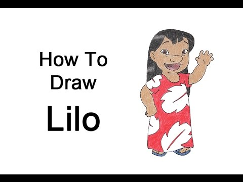How To Draw Lilo From Lilo Stitch Youtube