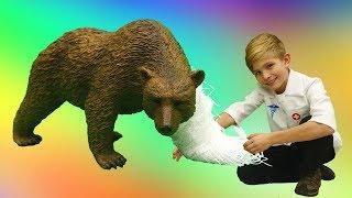 Игры для детей - Игрушки животные  - Лесные жители