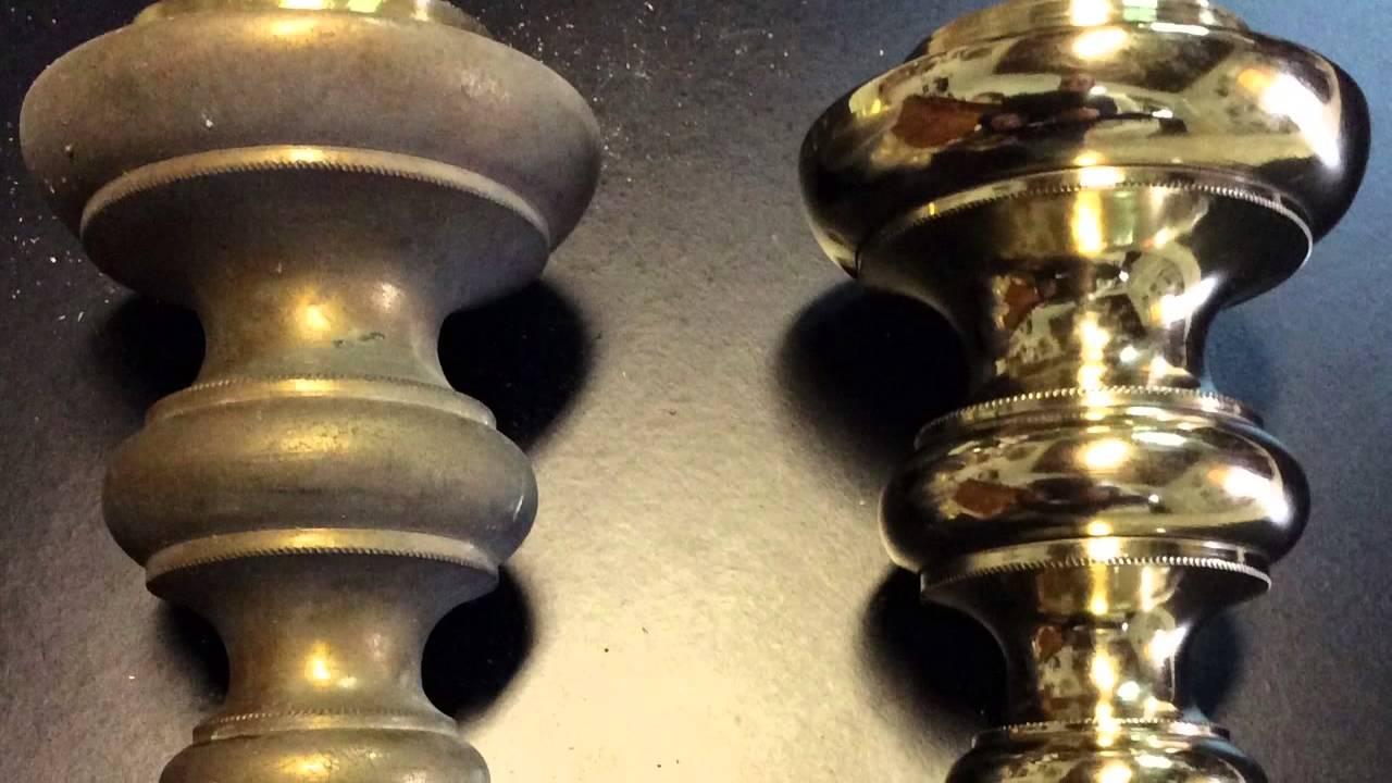 Lampadario Antico Ottone : Candelabri ottone a restauro youtube