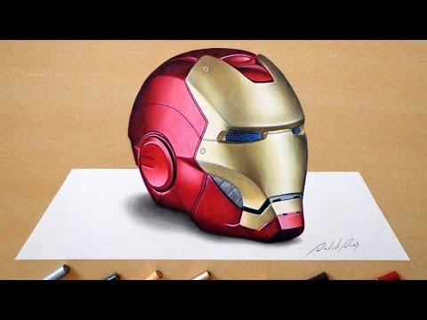 3D Drawing: Iron Man