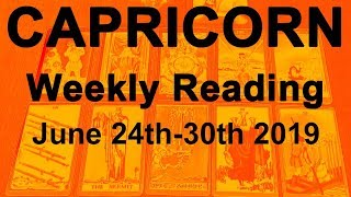 """CAPRICORN WEEKLY TAROT  """"DIVINELY-GUIDED NEW BEGINNINGS; VICTORY!""""  June 24th-30th 2019"""