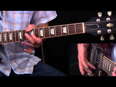 learn an open e tuning rhythm lick