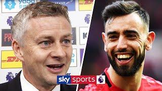 Ole Gunnar Solskjaer praises Bruno Fernandes after scoring his first Manchester United goal