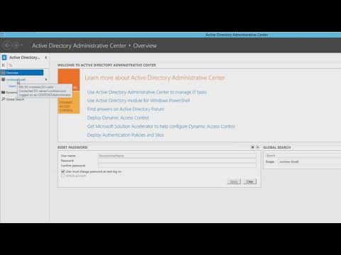 70-410 Objective 5.2 - Creating and Managing User Accounts with GUI Tools for Windows Server 2012 R2