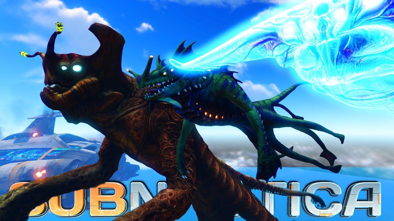 BIGGEST CREATURE Comparison in SUBNAUTICA  (Sea Emperor, Ghost Leviathan,  Reaper Leviathan)