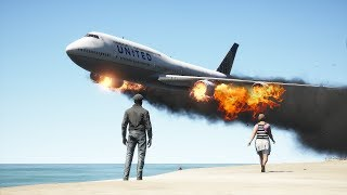 B747 Emergency Landing On Water | GTA 5
