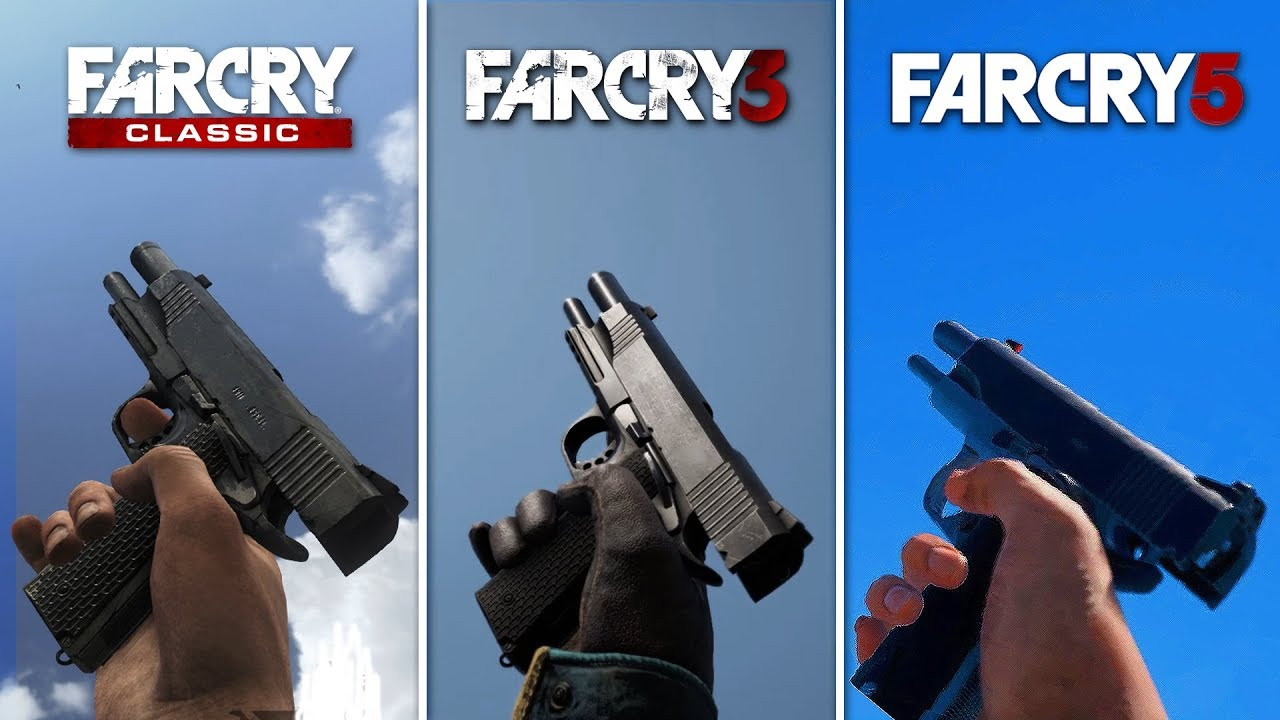 Old Far Cry Games vs Far Cry 5 Weapons Comparison - EVOLUTION (All Far Cry Games Guns Comparison)