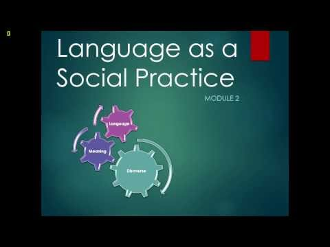 Language as a social practice