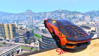GTA 5 High Speed Jumps/Crashes With Real Car Mods