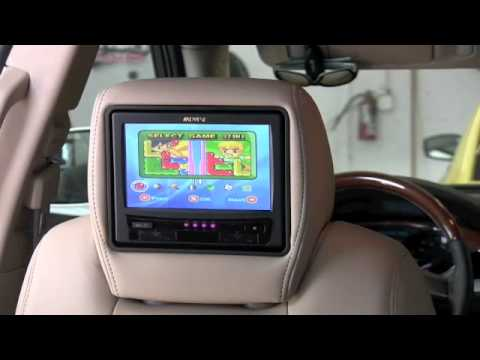 headrest video dvd screens in buick enclave youtube. Black Bedroom Furniture Sets. Home Design Ideas