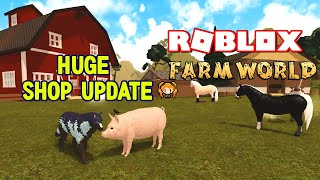 ROBLOX FARM WORLD HUGE SHOP UPDATE to Buy Animals! BOAR, BEAR, New Dog, Funny Moments! (No Cougar😥)