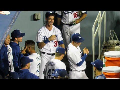 Dodgers Dugout Craziness Tonight 😅 Starring Cody Bellinger