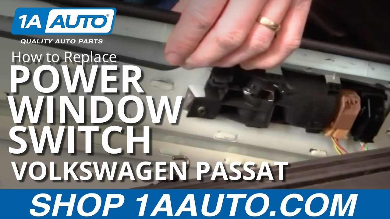 How to install replace power window switch vw passat 98 01 for 1999 vw passat window regulator