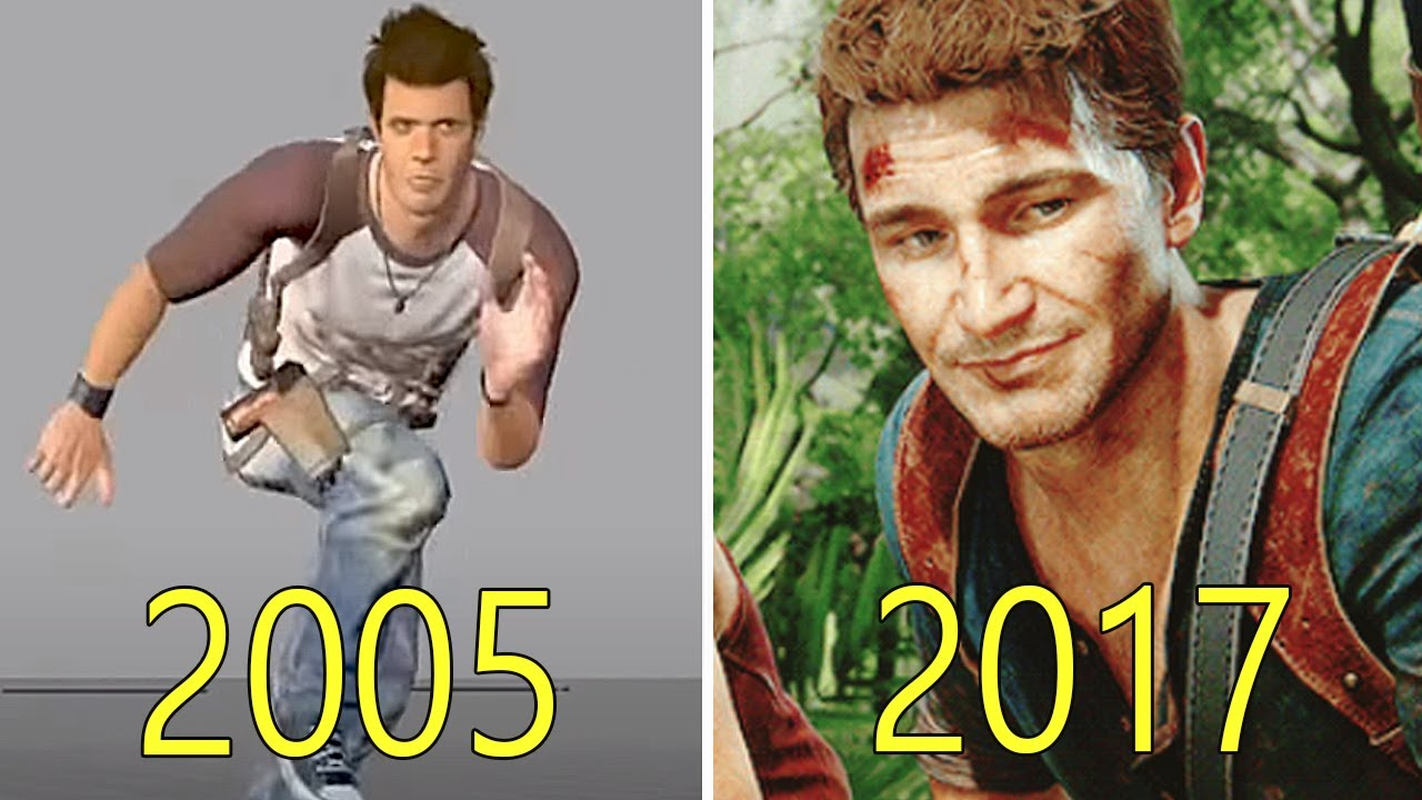 Evolution of Uncharted  2005-2017