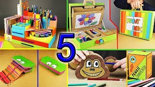 5 Amazing DIY ideas for SCHOOL (compilation)