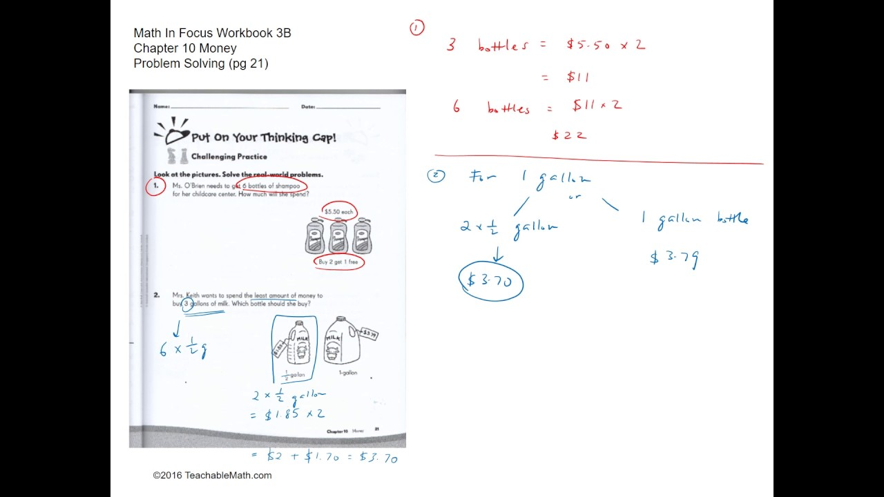 MIF Workbook 3B Solutions Chapter 10 Money Problem Solving