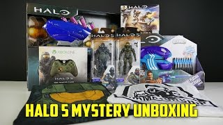 Unboxing a Halo 5 mystery package that we received courtesy of Micr...