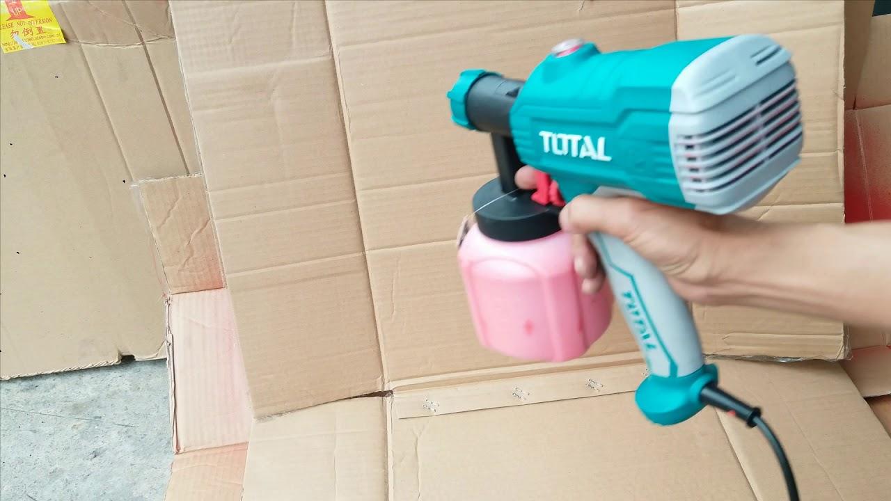 Giải đáp câu hỏi máy phun sơn điện cầm tay 350w hãng Total có sơn được sơn dầu hay không?
