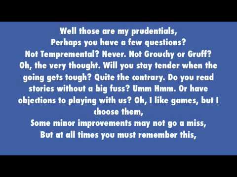 Practically Perfect Lyrics - Mary Poppins
