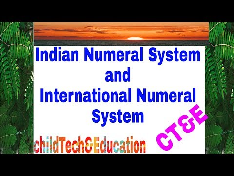 Numeral System | Indian Numeral System | International numeral System |  Numbering system | CT&E