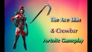 The Ace Skin & Crowbar Pickaxe Gameplay ( Fortnite Mobile)