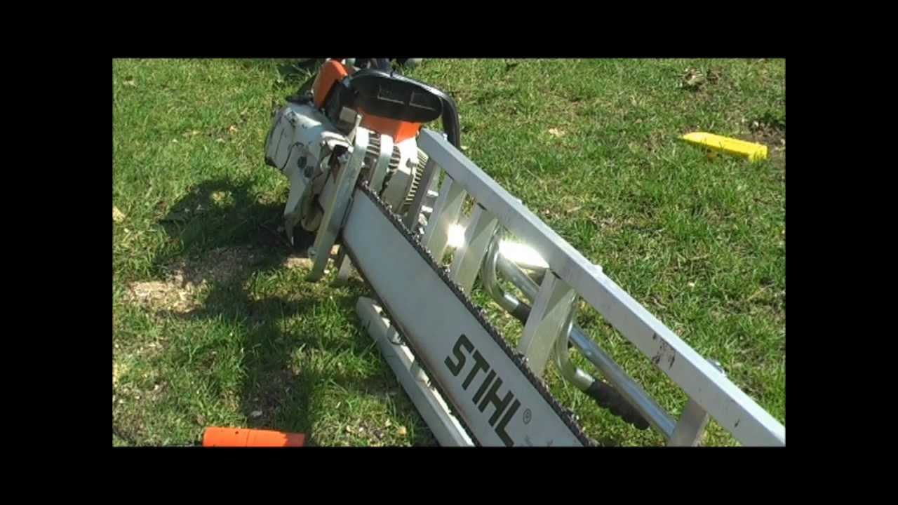 Chainsaw milling large walnut with Stihl 090 and 48 ...