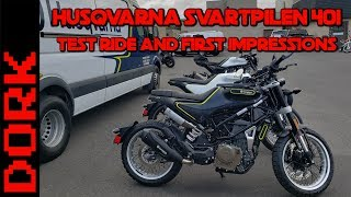 Husqvarna Svartpilen 401 Review: Test Ride and First Impressions