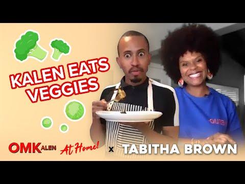'OMKalen': Tabitha Brown Teaches Kalen To Eat Vegetables