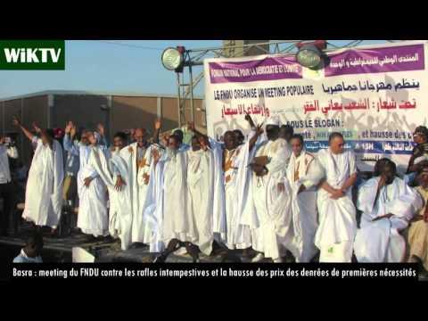 Basra/Nouakchott :  meeting de l'opposition contre les rafles intempestives et la hausse des prix