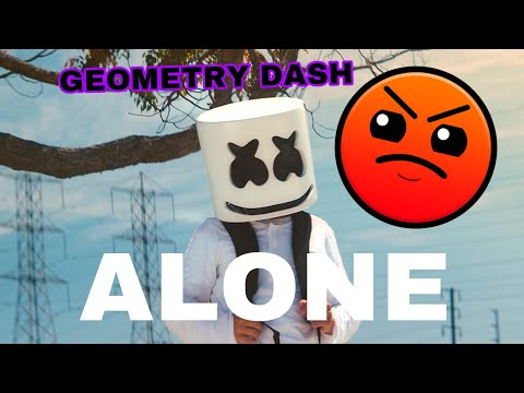 Alone By Marshmello-in Geometry Dash