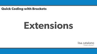Quick Coding with Brackets - Extensions