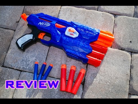 [REVIEW] Nerf Elite Dual-Strike (Shoots Mega AND Elite Darts!) Unboxing, Review, & Firing Test