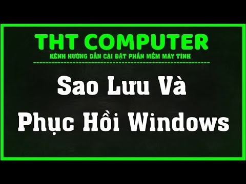 Hướng Dẫn Sao Lưu và Phục Hồi Windows | THT COMPUTER