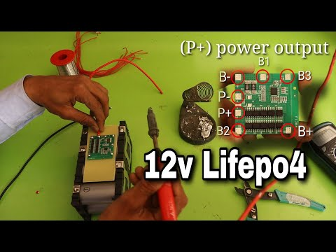 DIY 12V 32650 LITHIUM PHOSPHATE BATTERY (lithium LifePo4)