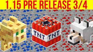 Minecraft 1.15 Pre-Release 4 TNT Drop Fix, Shulkers In Boats & Many Bug Fixes