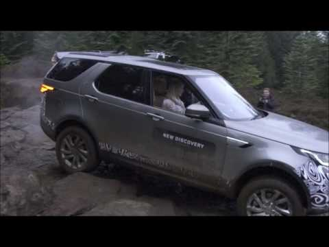 Off roading in the New Land Rover Discovery