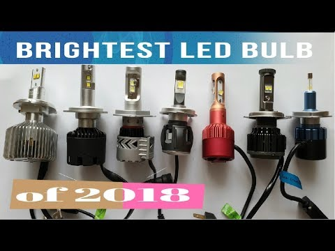 Brightest H4 LED BULB of 2018 a Raw Lumens Test