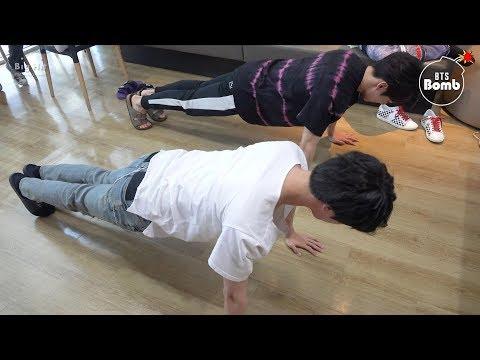[BANGTAN BOMB] JK & JINs exercise time - BTS (방탄소년단)