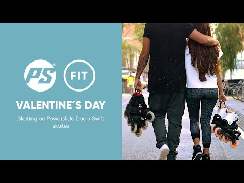Valentine´s day skating on Powerslide Doop Swift 2018 - step-in fitness inline skates
