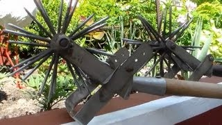 Ручной культиватор. Обзор. Работа культиватором(Ручной культиватор используется для прополки. Ручной культиватор сделан из нержавеющей стали. Звездочки..., 2013-05-19T14:13:14.000Z)