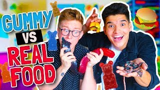 GUMMY vs. REAL FOOD!