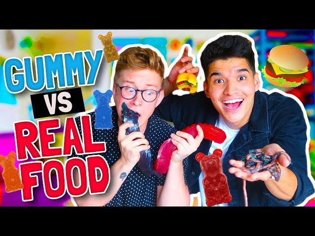 GUMMY vs. REAL FOOD!