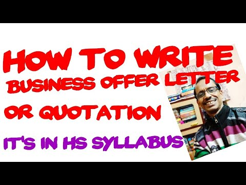 Business Offer/Quotation Letter